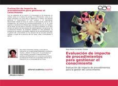 Portada del libro de Evaluación de impacto de procedimientos para gestionar el conocimiento