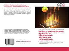 Capa do livro de Análisis Multivariante aplicado al rendimiento académico universitario