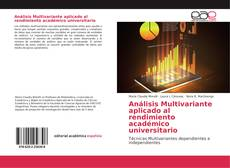 Análisis Multivariante aplicado al rendimiento académico universitario kitap kapağı