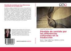 Couverture de Pérdida de sentido por las diferencias culturales en la traducción