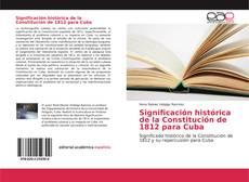 Capa do livro de Significación histórica de la Constitución de 1812 para Cuba