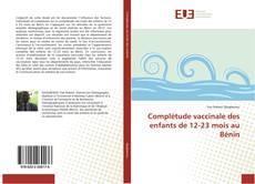 Complétude vaccinale des enfants de 12-23 mois au Bénin kitap kapağı