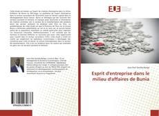 Buchcover von Esprit d'entreprise dans le milieu d'affaires de Bunia