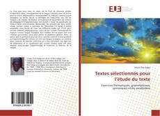 Couverture de Textes sélectionnés pour l'étude du texte