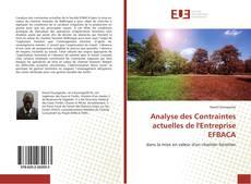 Bookcover of Analyse des Contraintes actuelles de l'Entreprise EFBACA