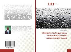 Méthode électrique dans la détermination des nappes souterraines kitap kapağı