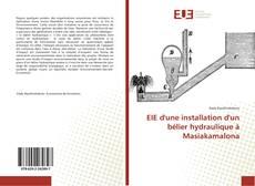 Buchcover von EIE d'une installation d'un bélier hydraulique à Masiakamalona