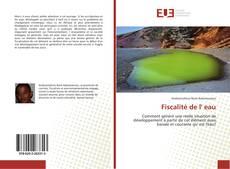 Bookcover of Fiscalité de l' eau