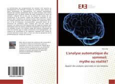 Couverture de L'analyse automatique du sommeil: mythe ou réalité?