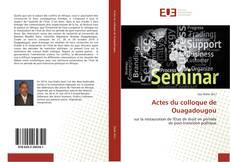 Bookcover of Actes du colloque de Ouagadougou