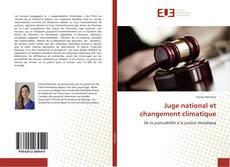 Buchcover von Juge national et changement climatique