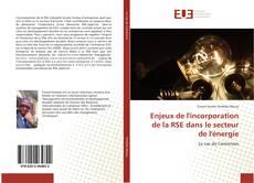 Capa do livro de Enjeux de l'incorporation de la RSE dans le secteur de l'énergie