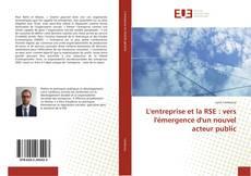 Bookcover of L'entreprise et la RSE : vers l'émergence d'un nouvel acteur public