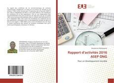 Couverture de Rapport d'activités 2016 ASEP ONG