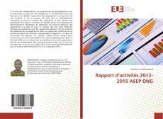 Capa do livro de Rapport d'activités 2012-2015 ASEP ONG