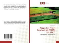 Couverture de Rapport de l'étude longitudinale PROMIS 2015-2017