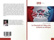 Bookcover of La Pauvreté et l'Abus des Enfants en Afrique