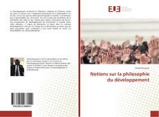 Bookcover of Notions sur la philosophie du développement