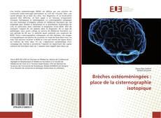 Portada del libro de Brèches ostéoméningées : place de la cisternographie isotopique