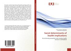 Buchcover von Social determinants of health implications