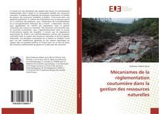 Couverture de Mécanismes de la réglementation coutumière dans la gestion des ressources naturelles
