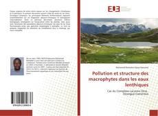 Portada del libro de Pollution et structure des macrophytes dans les eaux lenthiques