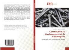 Bookcover of Contribution au développement de la filière équine
