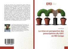 Bookcover of La mise en perspective des prescriptions du GIEC en RD Congo