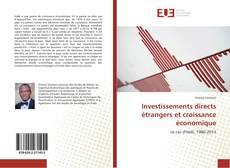 Borítókép a  Investissements directs étrangers et croissance économique - hoz