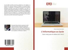 Capa do livro de L'Informatique au lycée