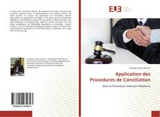 Bookcover of Application des Procedures de Conciliation