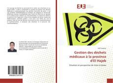 Bookcover of Gestion des déchets médicaux à la province d'El Hajeb