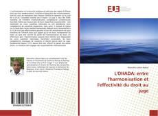 Portada del libro de L'OHADA: entre l'harmonisation et l'effectivité du droit au juge