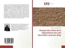 Bookcover of Analyse des effets de la dégradation des sols Burundais: province Buja