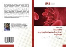 Couverture de Instabilité morphologiques de micro-capsules