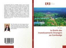 Le Droits des Investissements Etrangers au Cambodge kitap kapağı