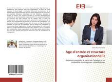 Portada del libro de Age d'entrée et structure organisationnelle