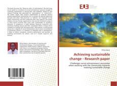 Borítókép a  Achieving sustainable change - Research paper - hoz