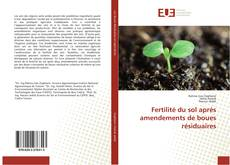Copertina di Fertilité du sol après amendements de boues résiduaires