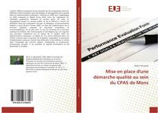 Portada del libro de Mise en place d'une démarche qualité au sein du CPAS de Mons