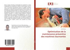 Обложка Optimisation de la maintenance préventive des machines tournantes