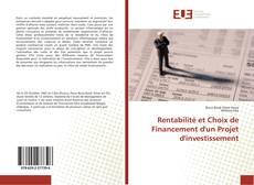 Capa do livro de Rentabilité et Choix de Financement d'un Projet d'investissement