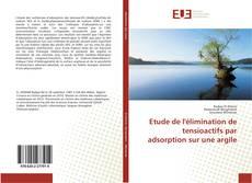 Capa do livro de Etude de l'élimination de tensioactifs par adsorption sur une argile
