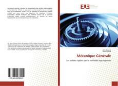 Portada del libro de Mécanique Générale