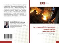 Bookcover of La responsabilité sociétale des entreprises transnationales