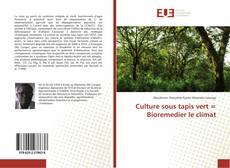 Portada del libro de Culture sous tapis vert = Bioremedier le climat