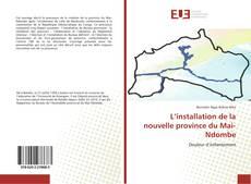 Bookcover of L'installation de la nouvelle province du Mai-Ndombe