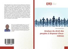 Capa do livro de Analyse du droit des peuples à disposer d'eux-mêmes