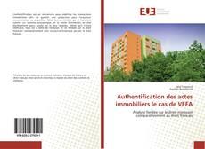 Bookcover of Authentification des actes immobilièrs le cas de VEFA