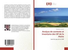 Couverture de Analyse de contexte et Inventaire des OP de la Pêche